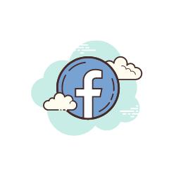 silver tv icon facebook