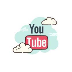 silver tv icon youtube